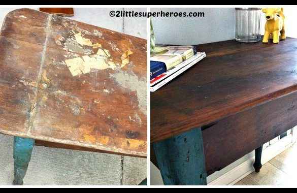 DIY Refinishing Furniture With Coconut Oil Tutorial