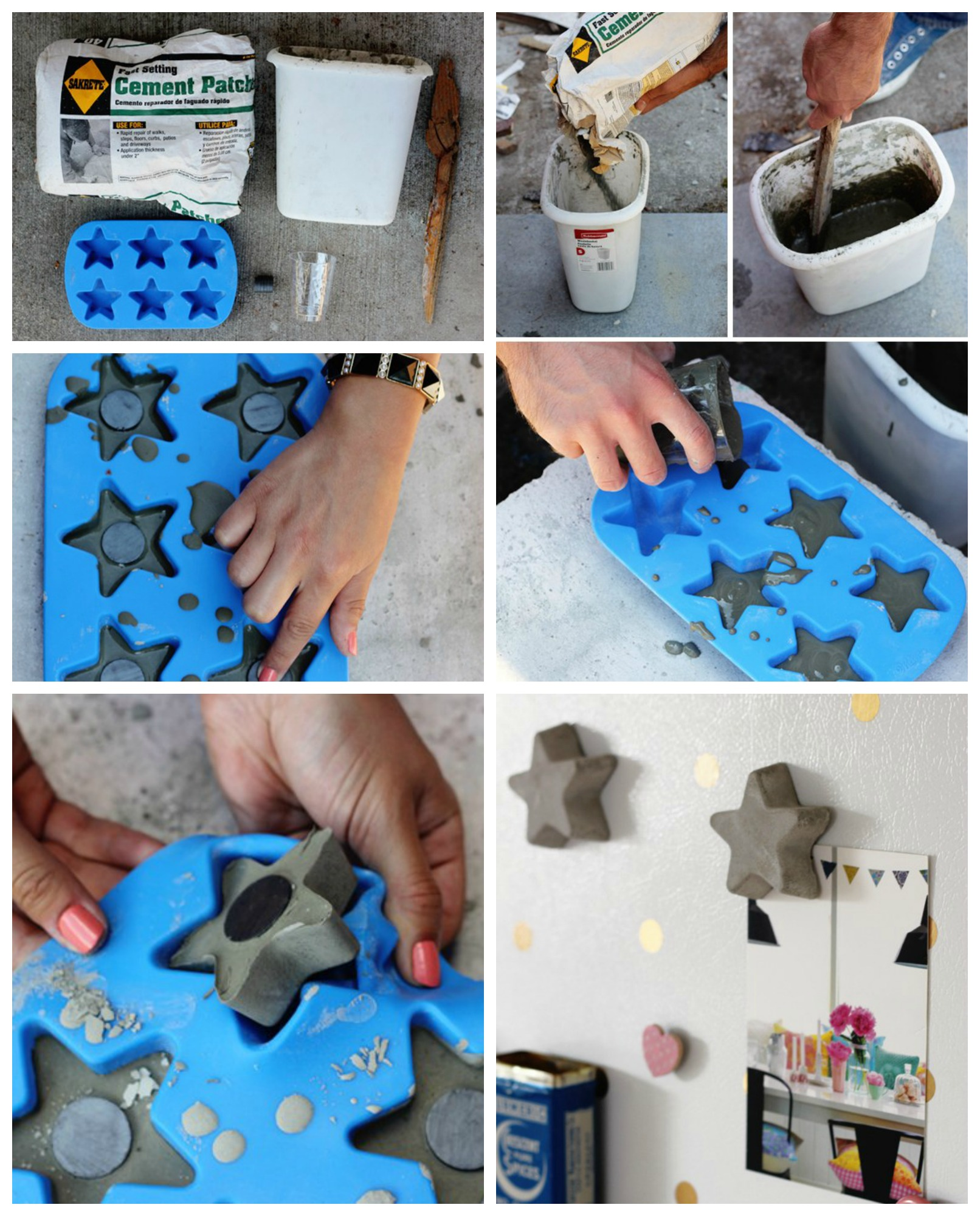 How to make Concrete Star Magnets
