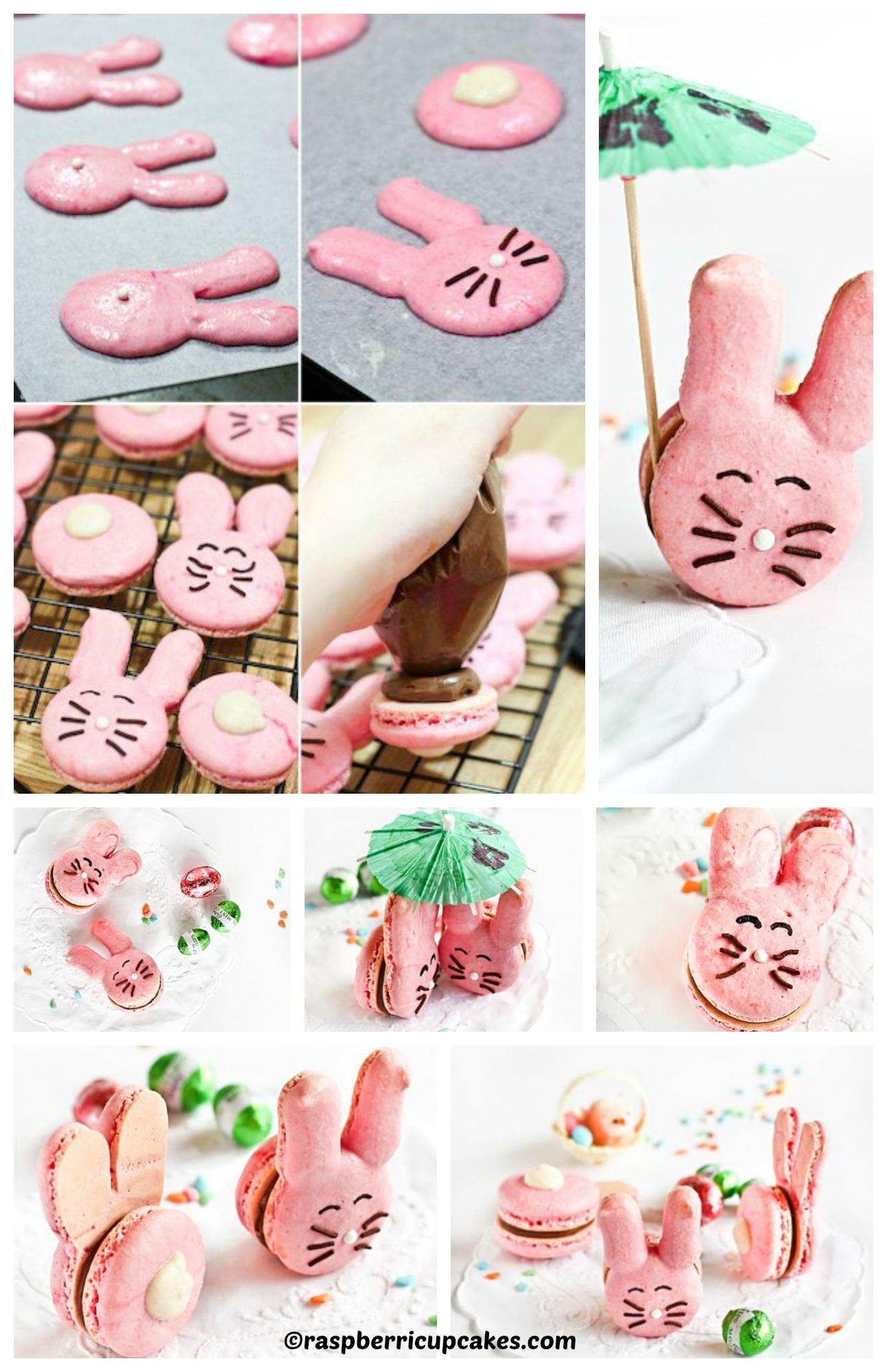 How to make Easter Bunny Macarons