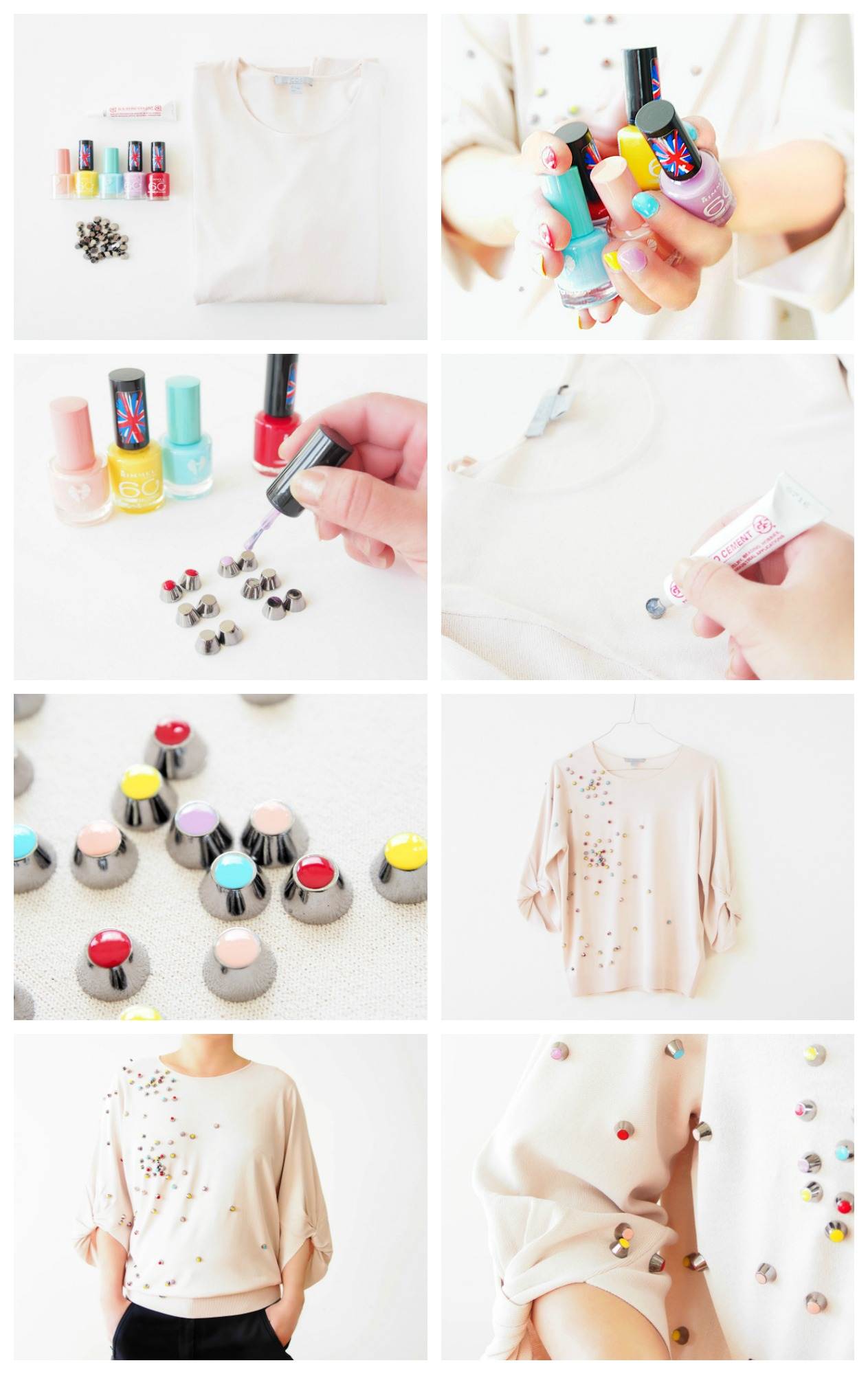 How to make a Chanel Inspired Top with Stud