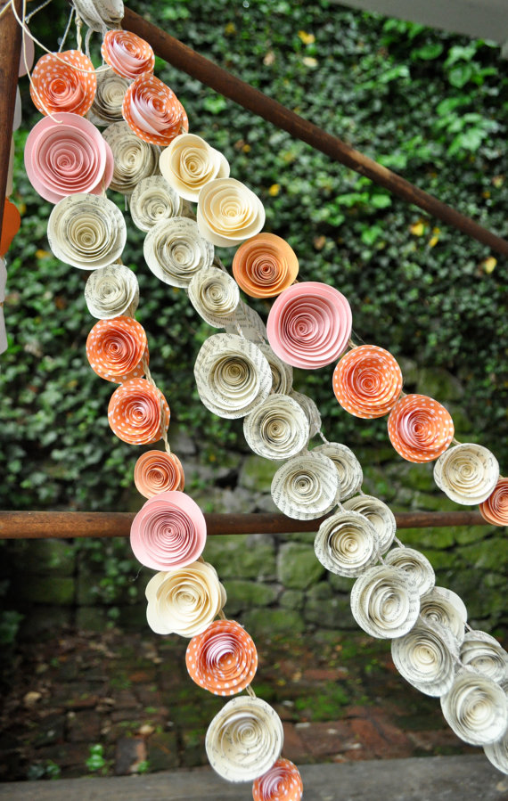 Paper Rosettes Garland