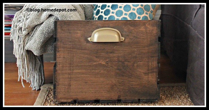 DIY Wooden Storage Crate Tutorial