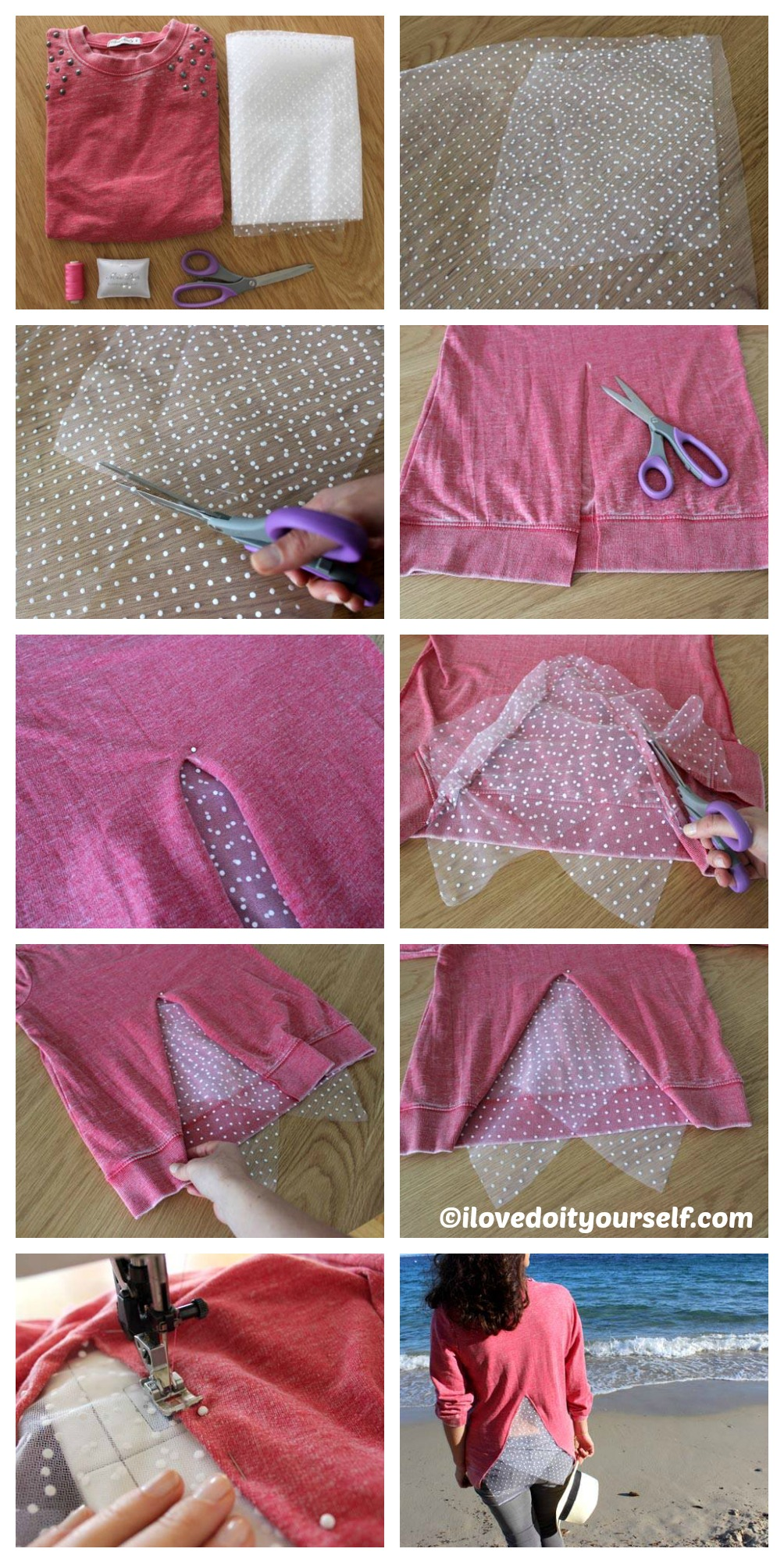 How to make a Sweat-Shirt With A Plumetis Back
