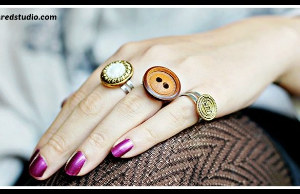 DIY Button Rings Tutorial
