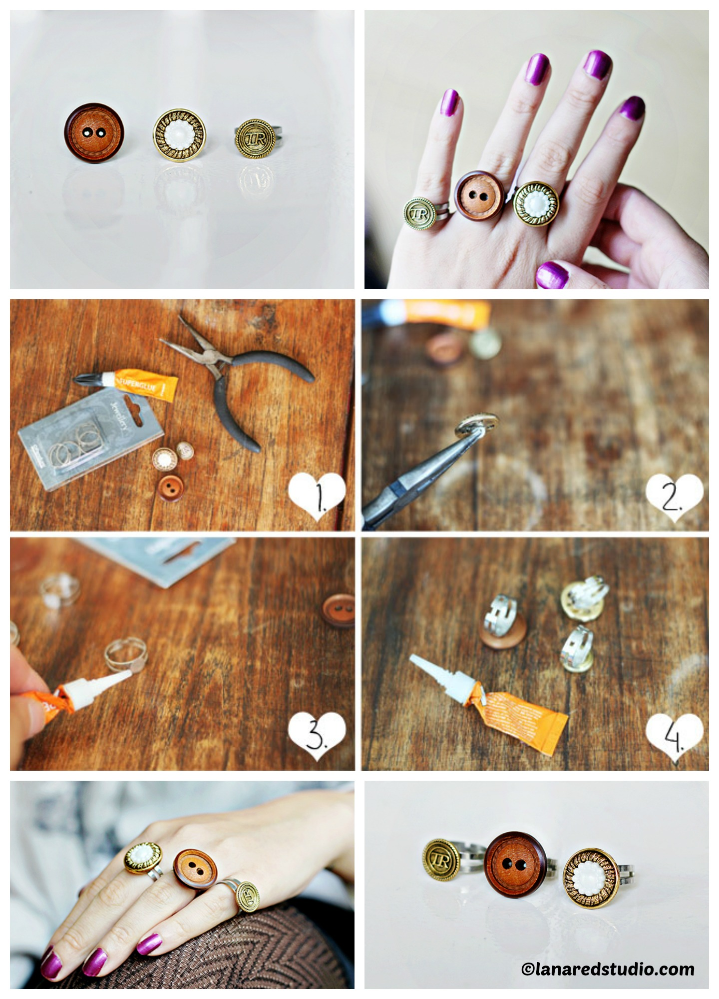 How to make Button Rings