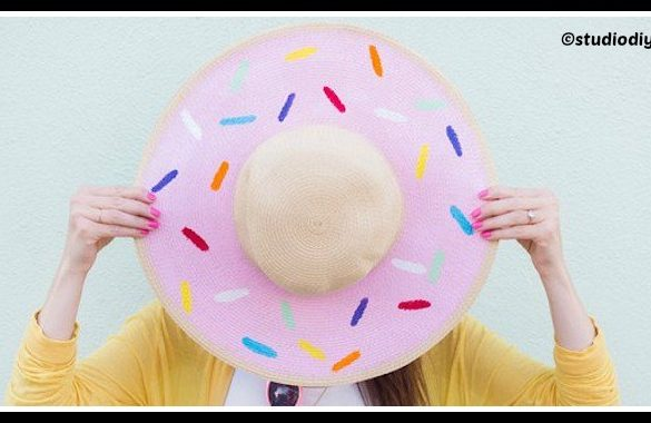 DIY Donut Floppy Hat Tutorial