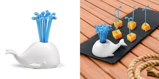 The 'Moby Pick' canape stick holder