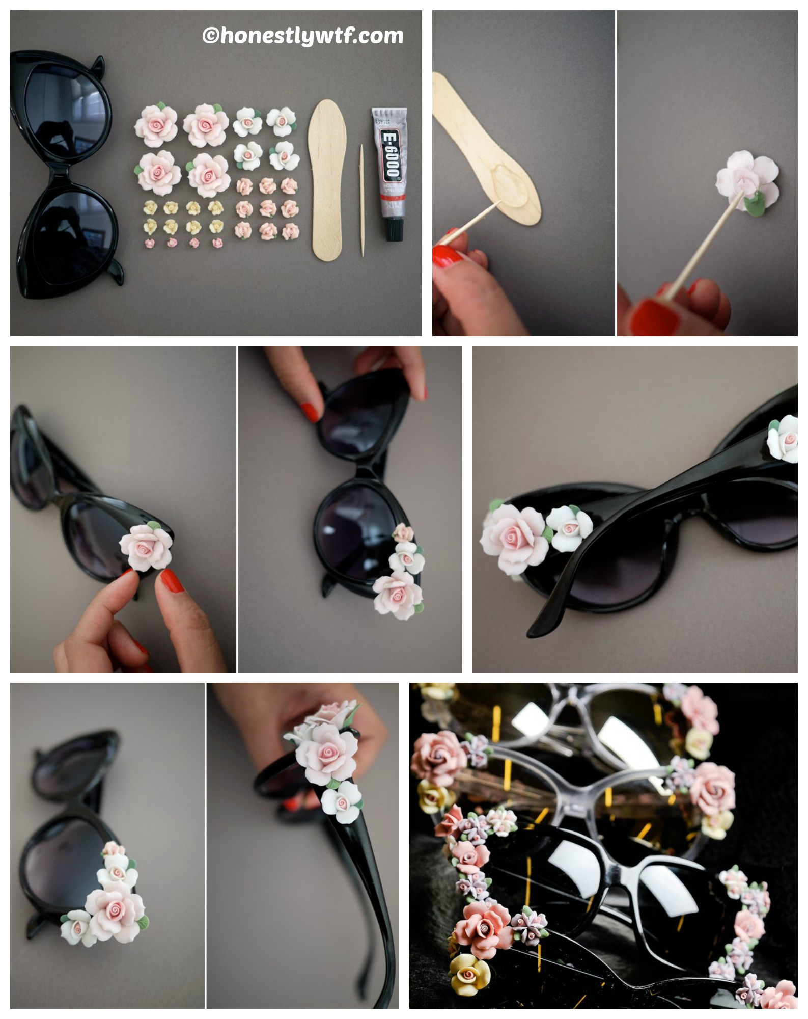 how to make floral sunglasses