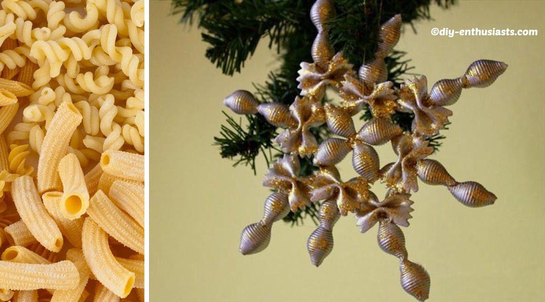 Pastas Christmas Tree Ornaments