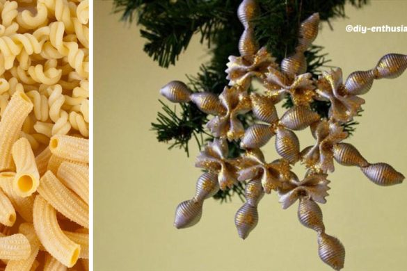 Pastas Christmas Tree Ornaments