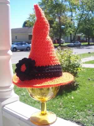 Crocheted Witch Hat