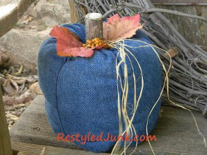 Denim Country Pumpkins