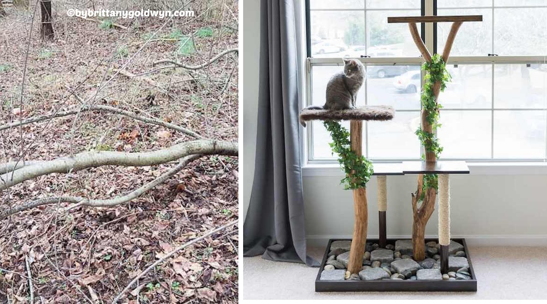 Diy cat tree playground tutorial diy home tutorials for Diy cat playground