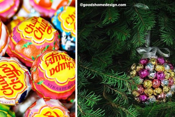 DIY Christmas Chupa Chups Decoration