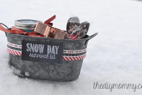 DIY Christmas Snow Day Survival Kit Tutorial