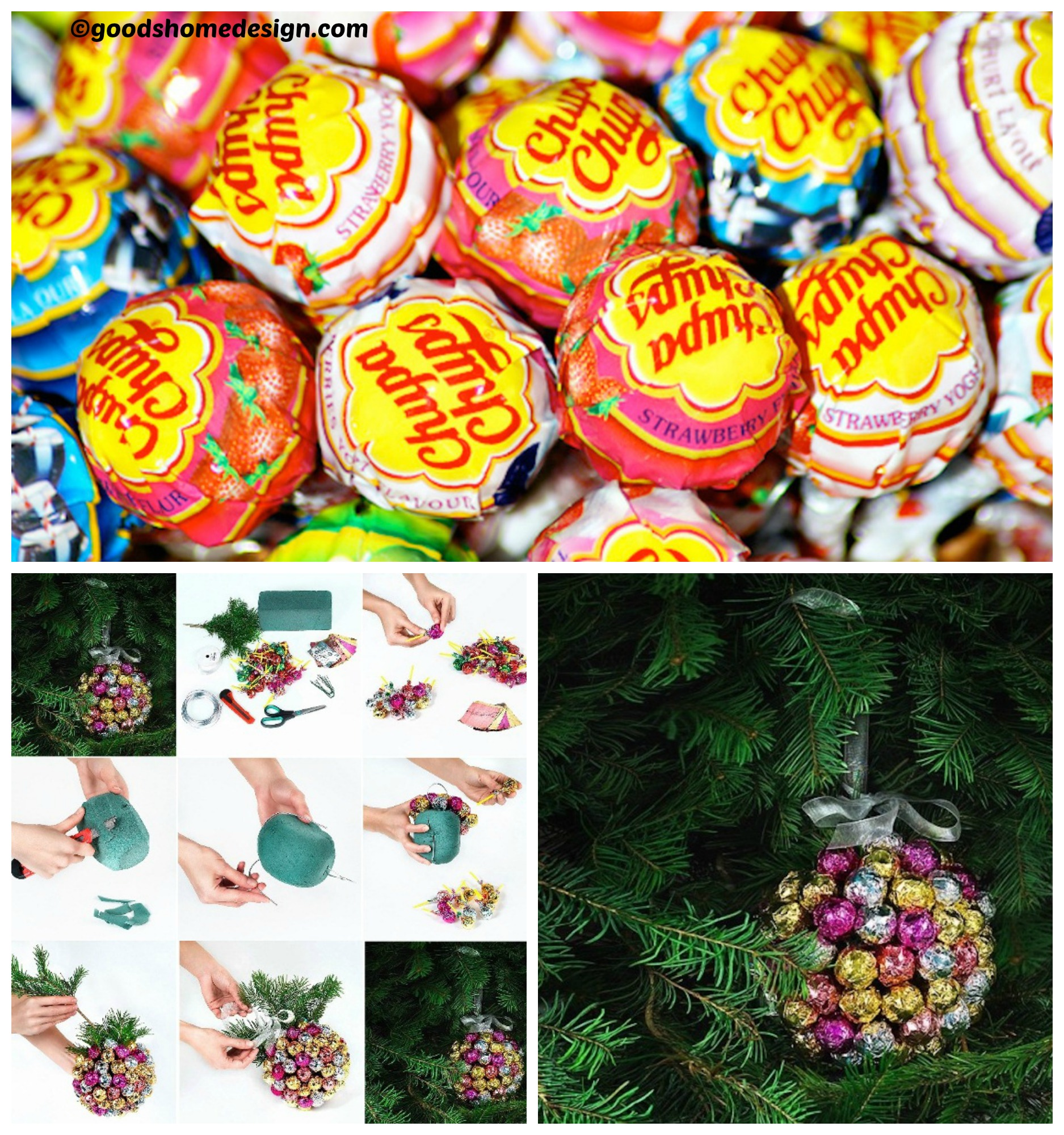 How to make a DIY Christmas Chupa Chups Decoration
