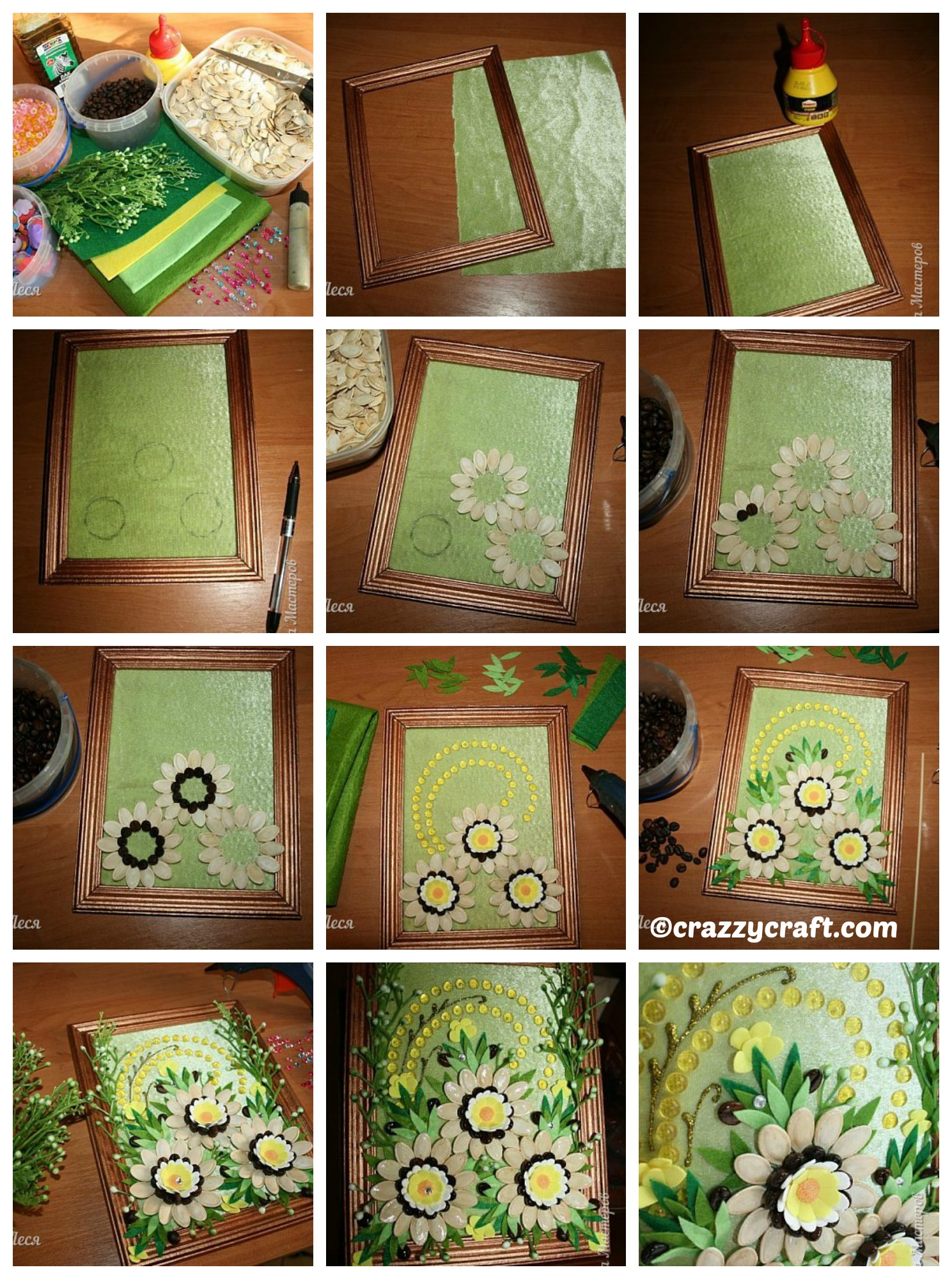 How to make a Flowers Picture Gift