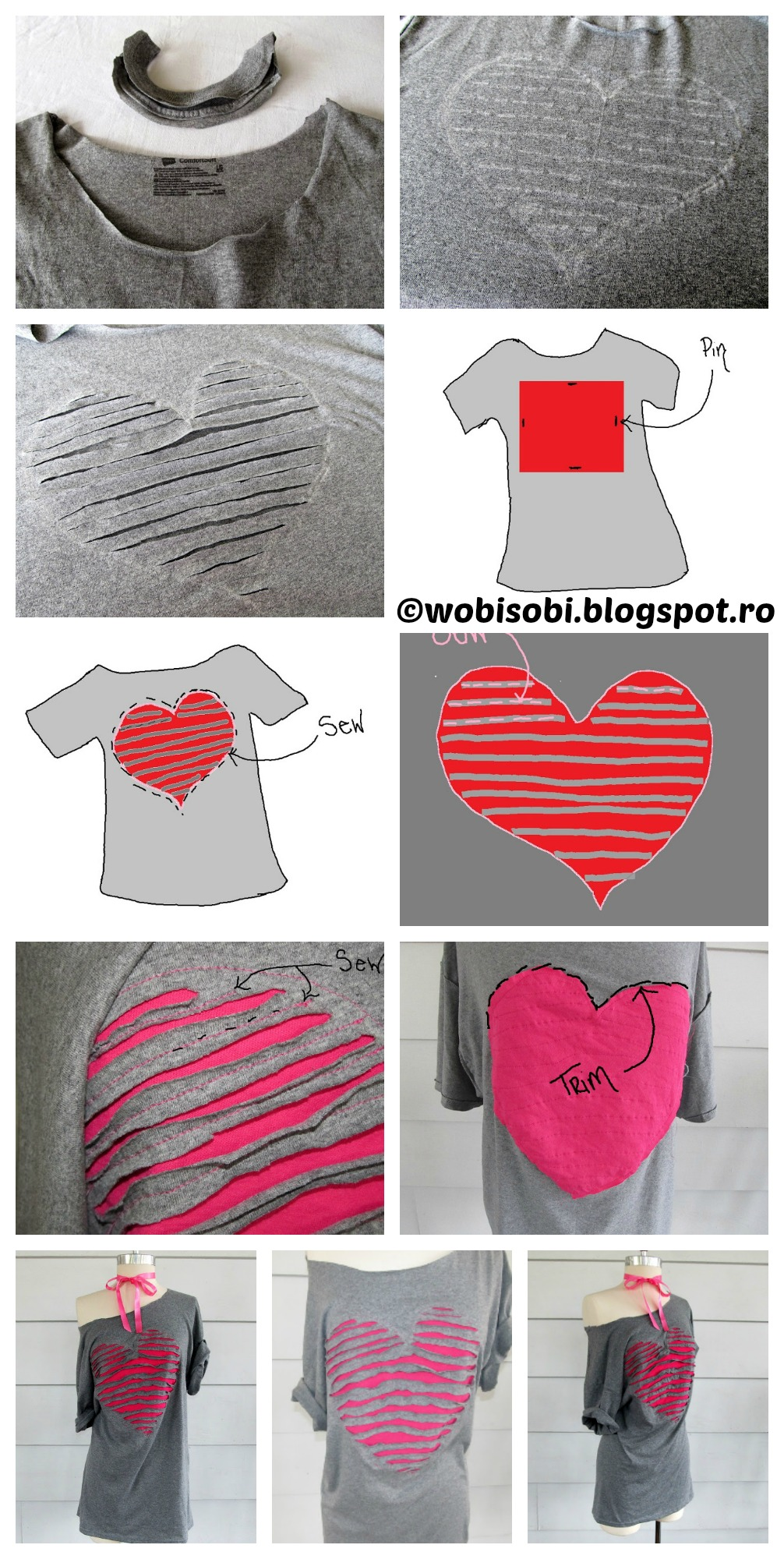 How to make a Heart Shaped Off Shoulder Dress