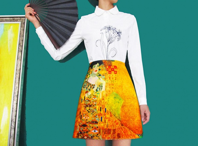 A skirt that's also a work of art