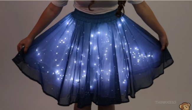 A glow-in-the-dark skirt