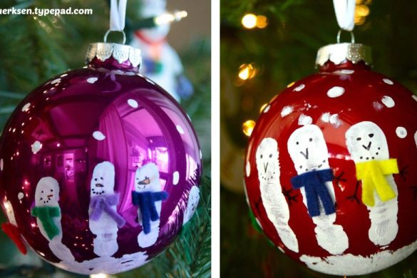 DIY Painted Christmas Glass Balls Tutorial