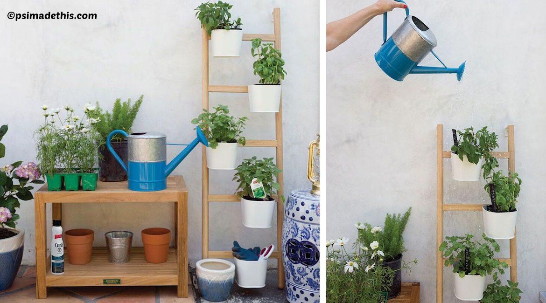 DIY Vertical Ladder Herb Garden Tutorial