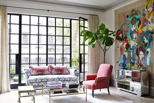 Pink upholstery & tapestry