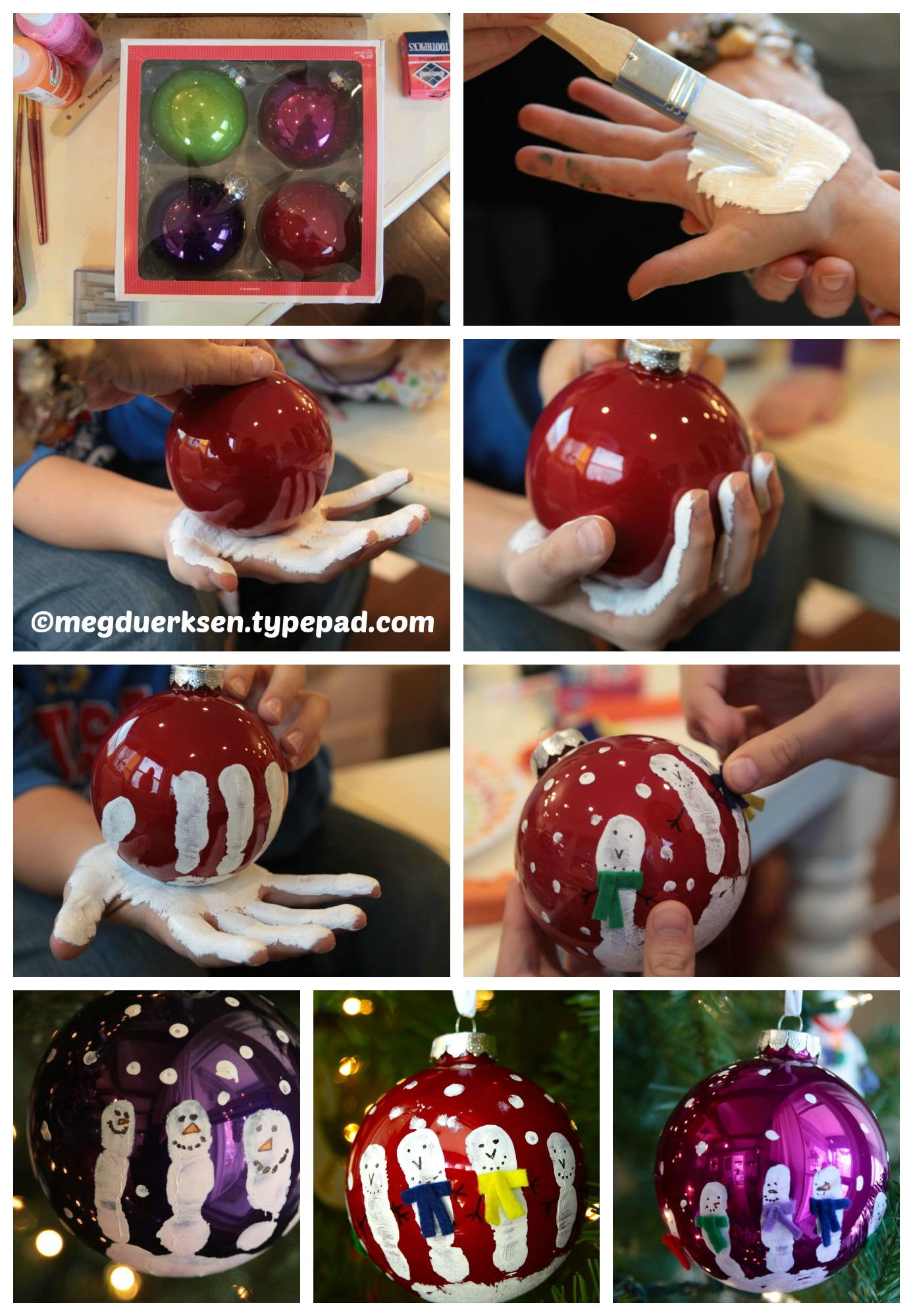 How to make Painted Christmas Glass Balls