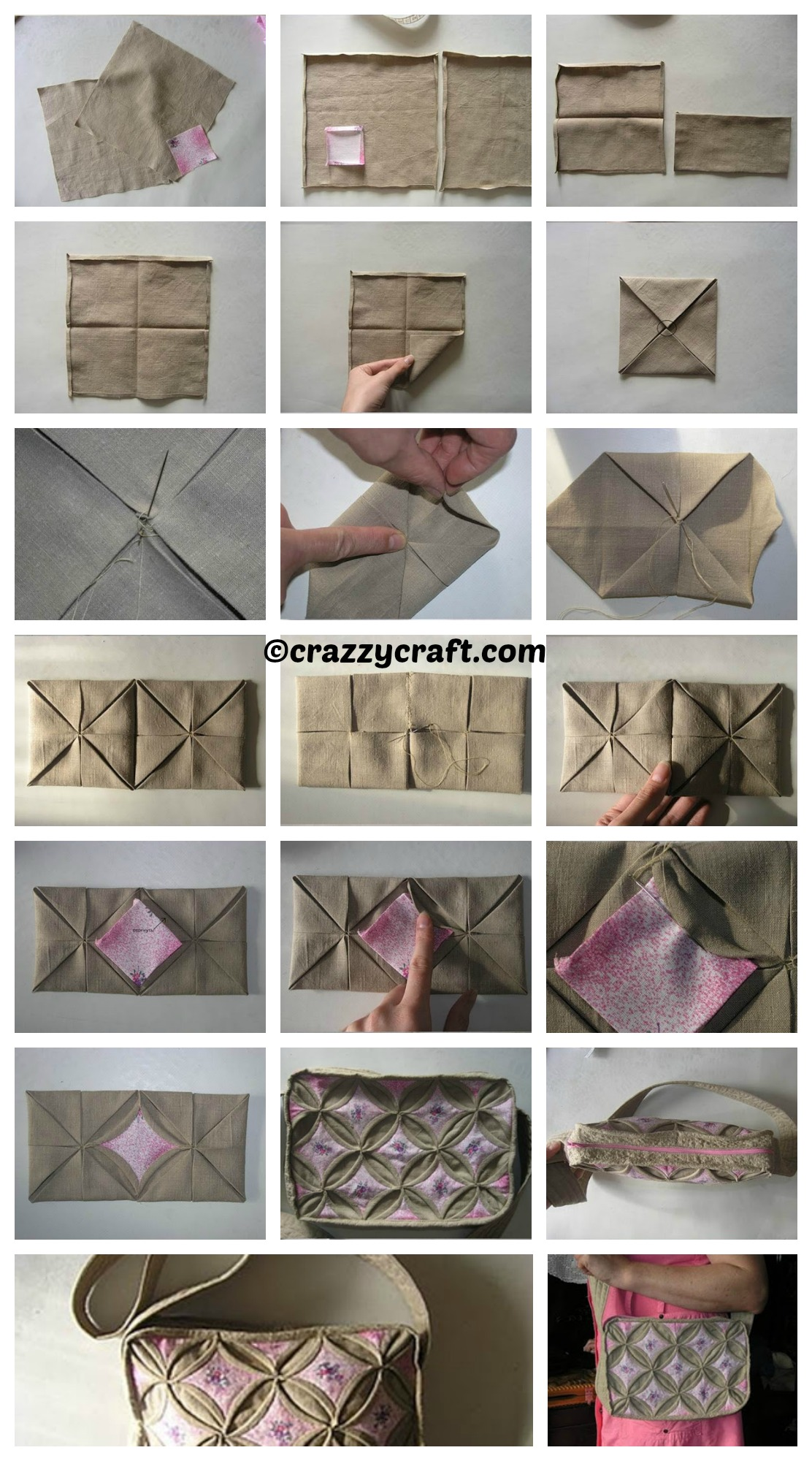 How to make an Origami Style Handbag