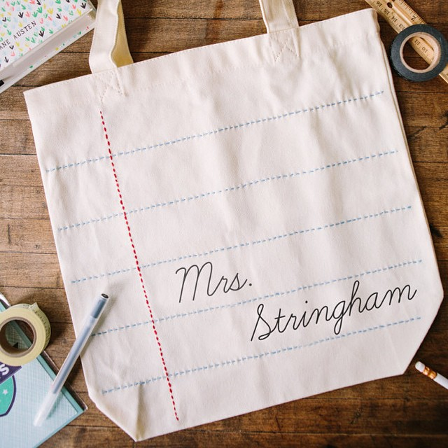 Personalized Notebook Tote