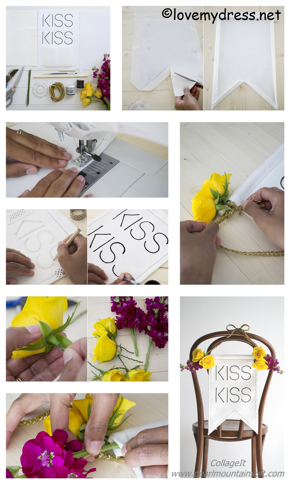 How to make a Kiss Wedding Chair
