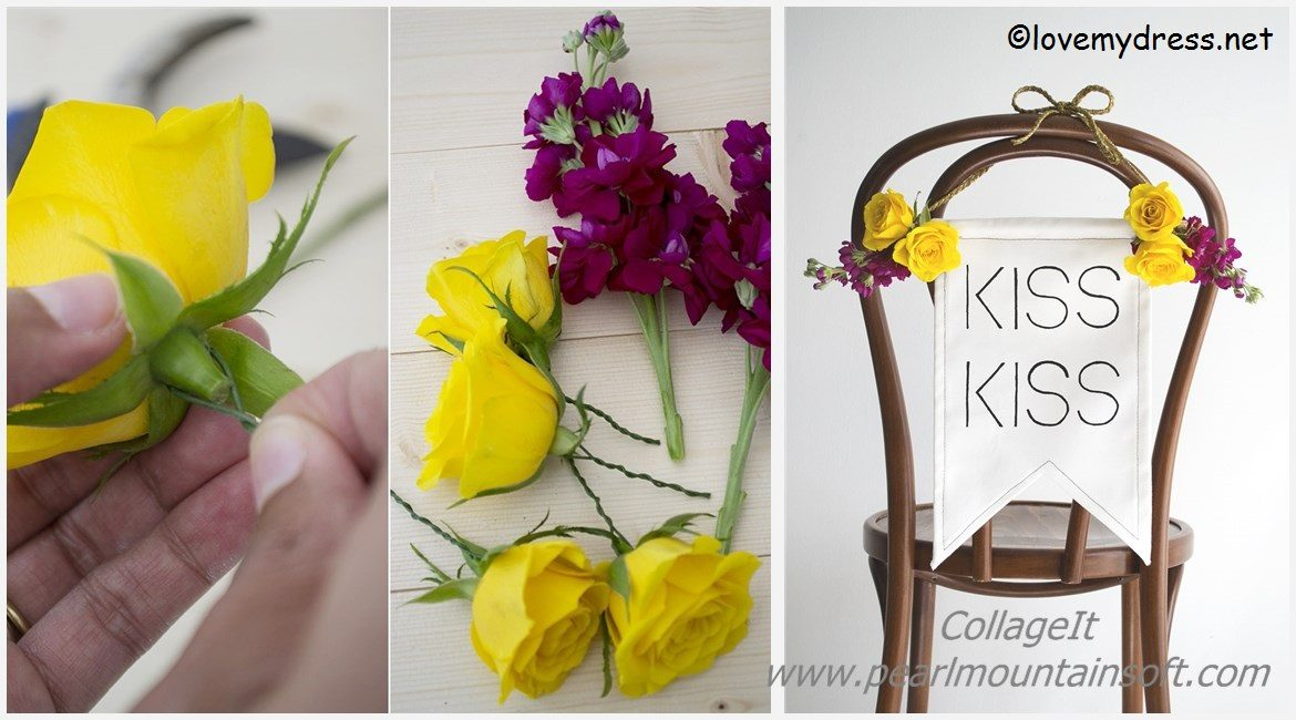 Kiss Wedding Chair DIY Tutorial