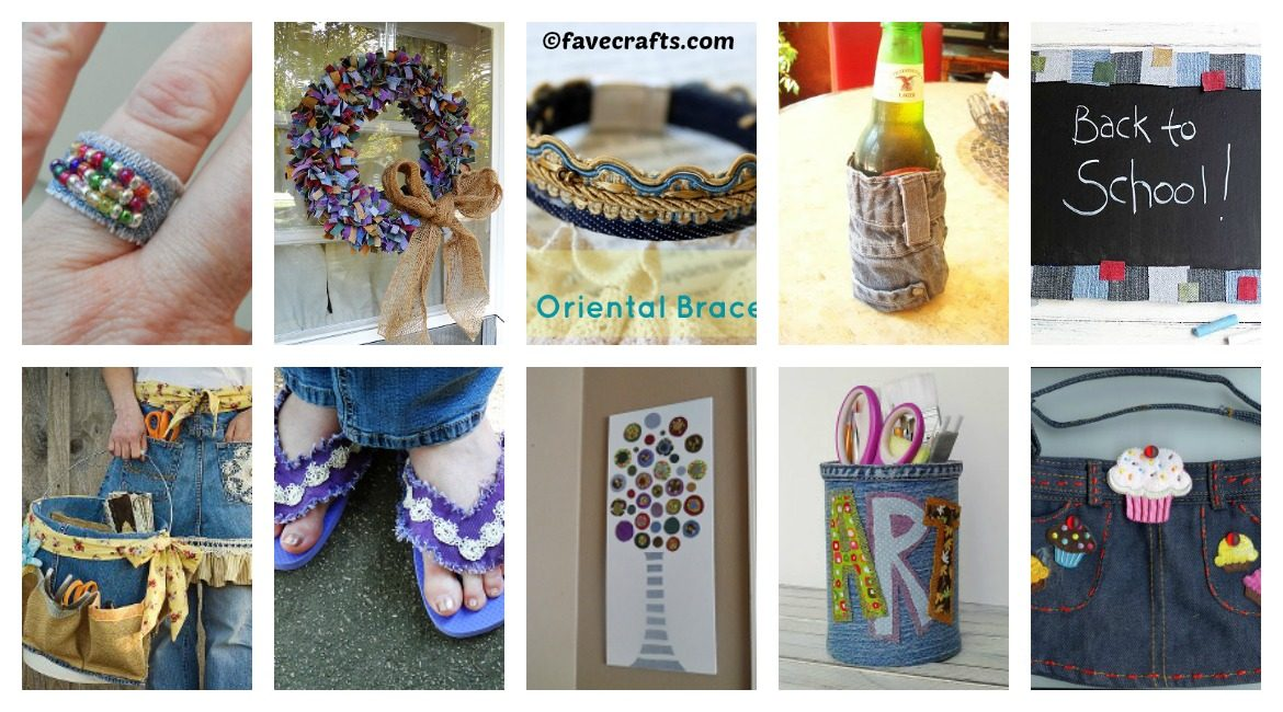 10 ways to reuse old jeans