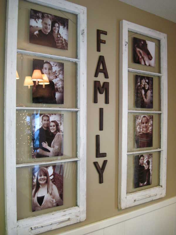 Family photos wall