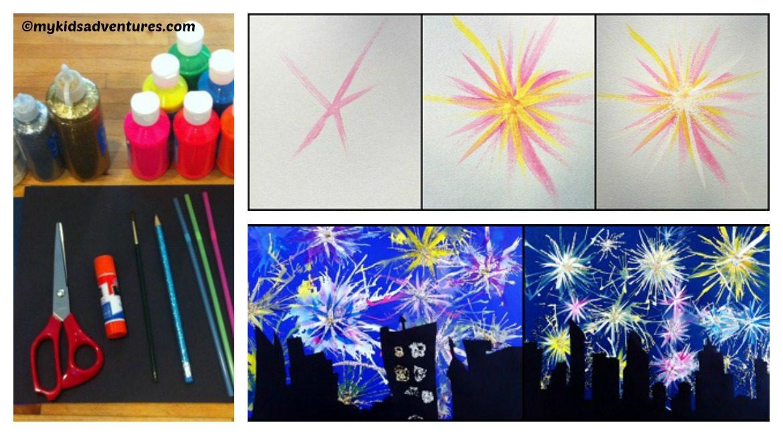DIY Paint Fireworks Tutorial