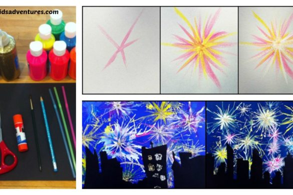 DIY Paint Fireworks Tutorial