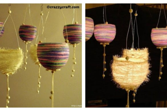 DIY Thread Lanterns Tutorial