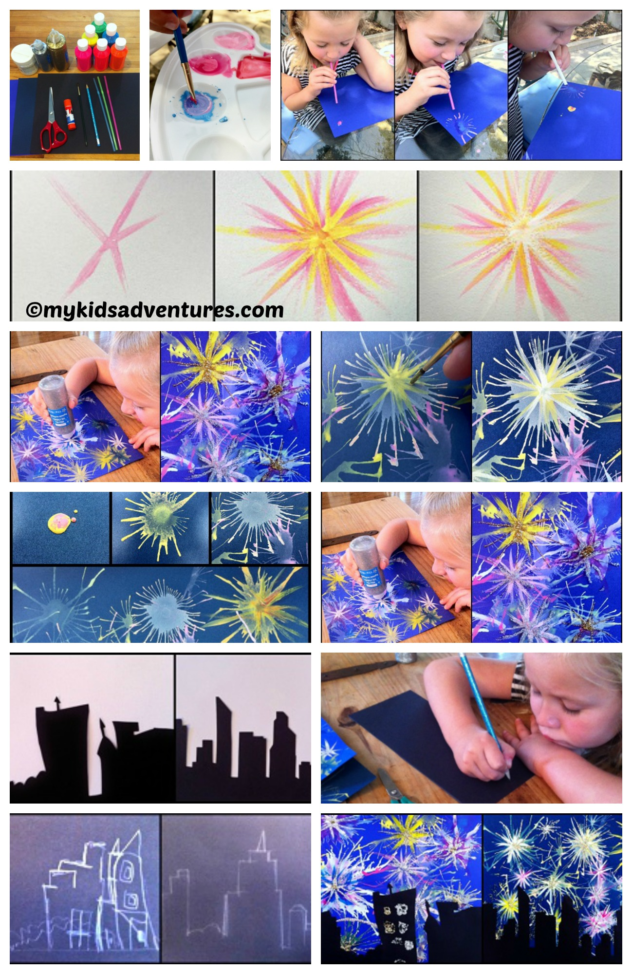 How to make Paint Fireworks