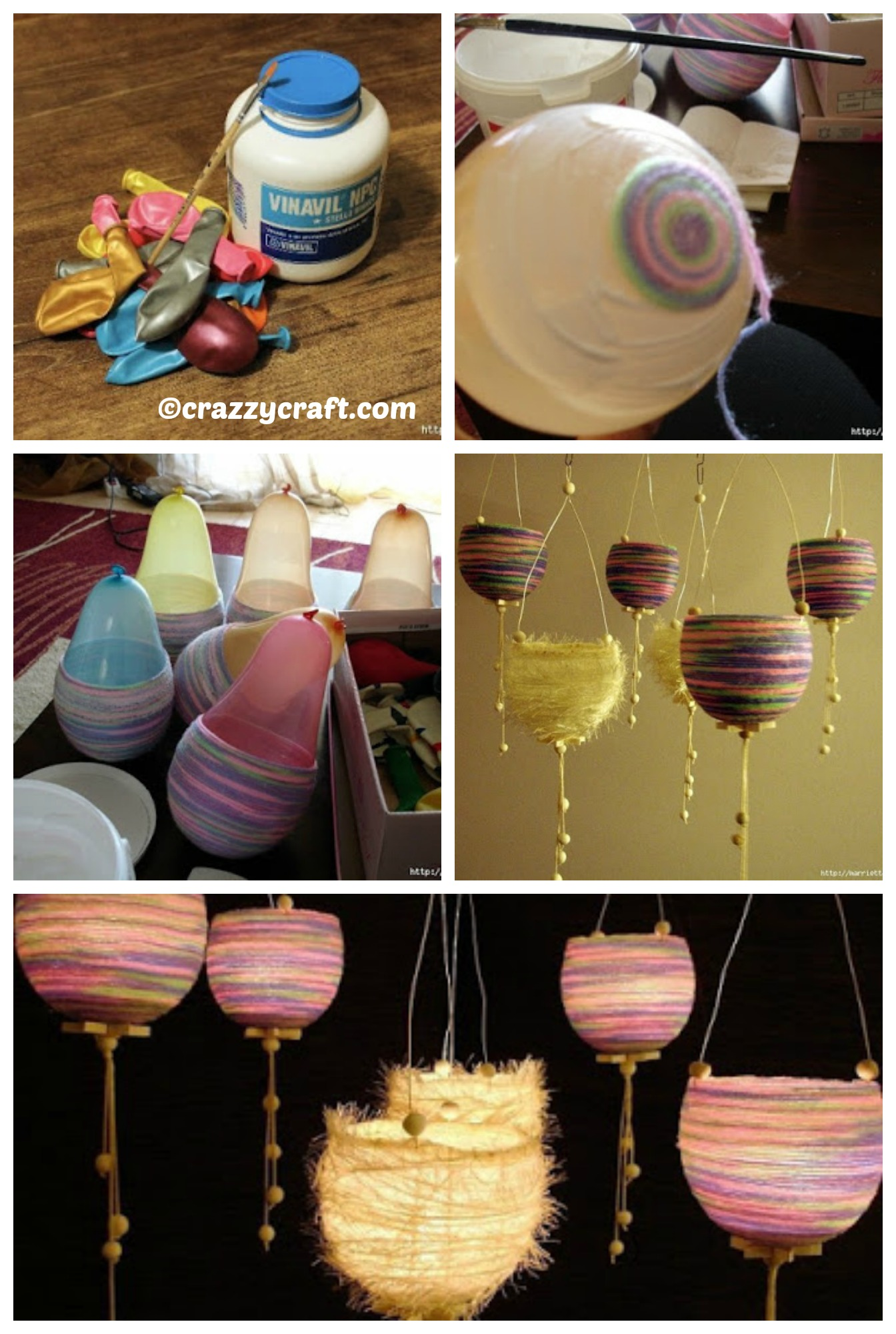 How to make Thread Lanterns