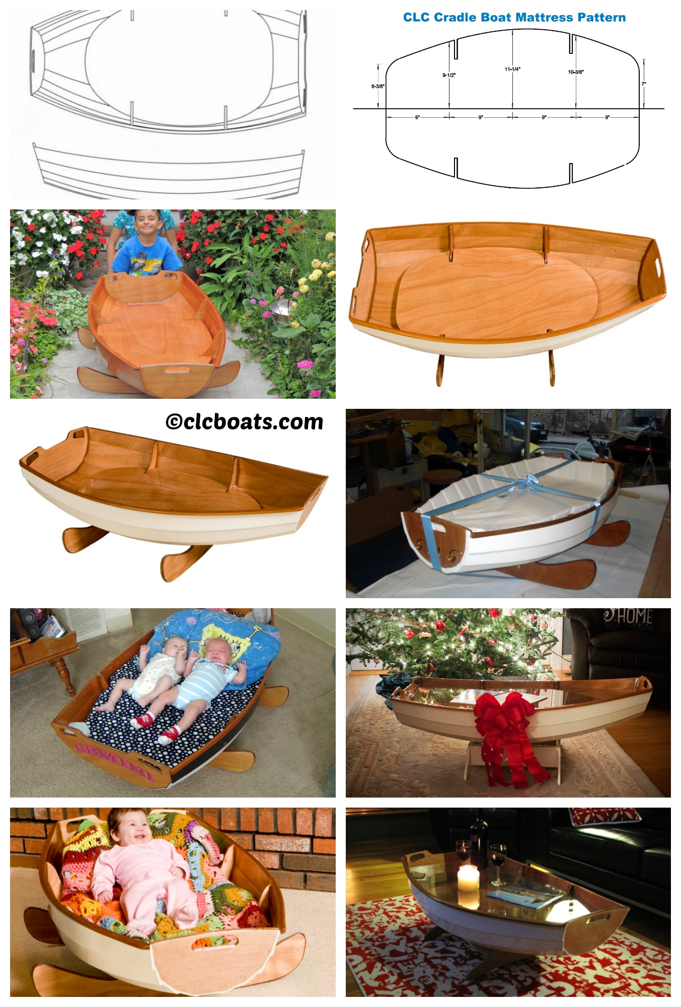 How to make a Boat Baby Cradle and Coffee Table