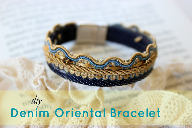Denim recycle bracelet