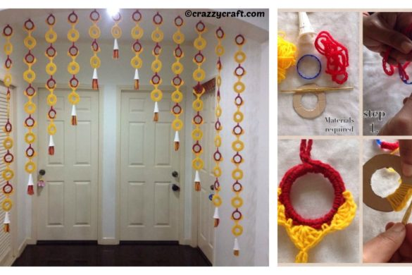 DIY Bottle Rings Curtain Tutorial