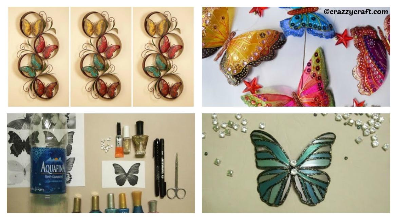 PET Bottle Butterfly Wall Art DIY Tutorial - DIY Home Tutorials