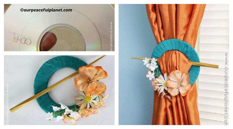 DIY CD Holder Curtain Tutorial