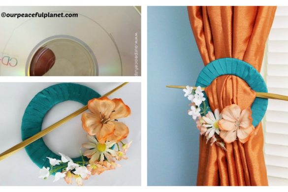DIY CD Holder Curtain Tutorial