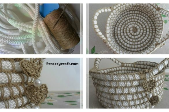 DIY Nylon Twine Basket Tutorial
