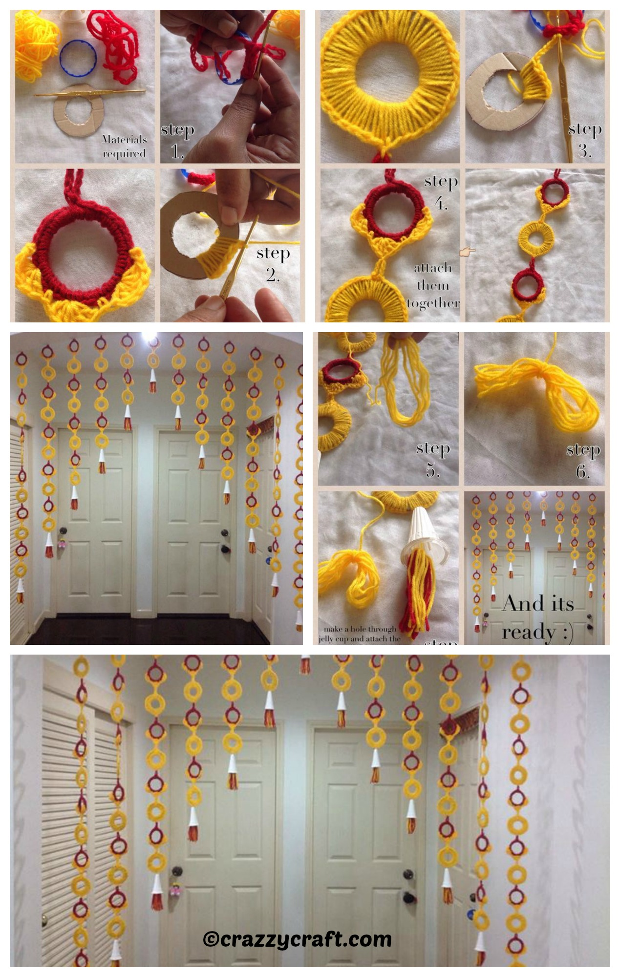 How to make a Bottle Rings Curtain
