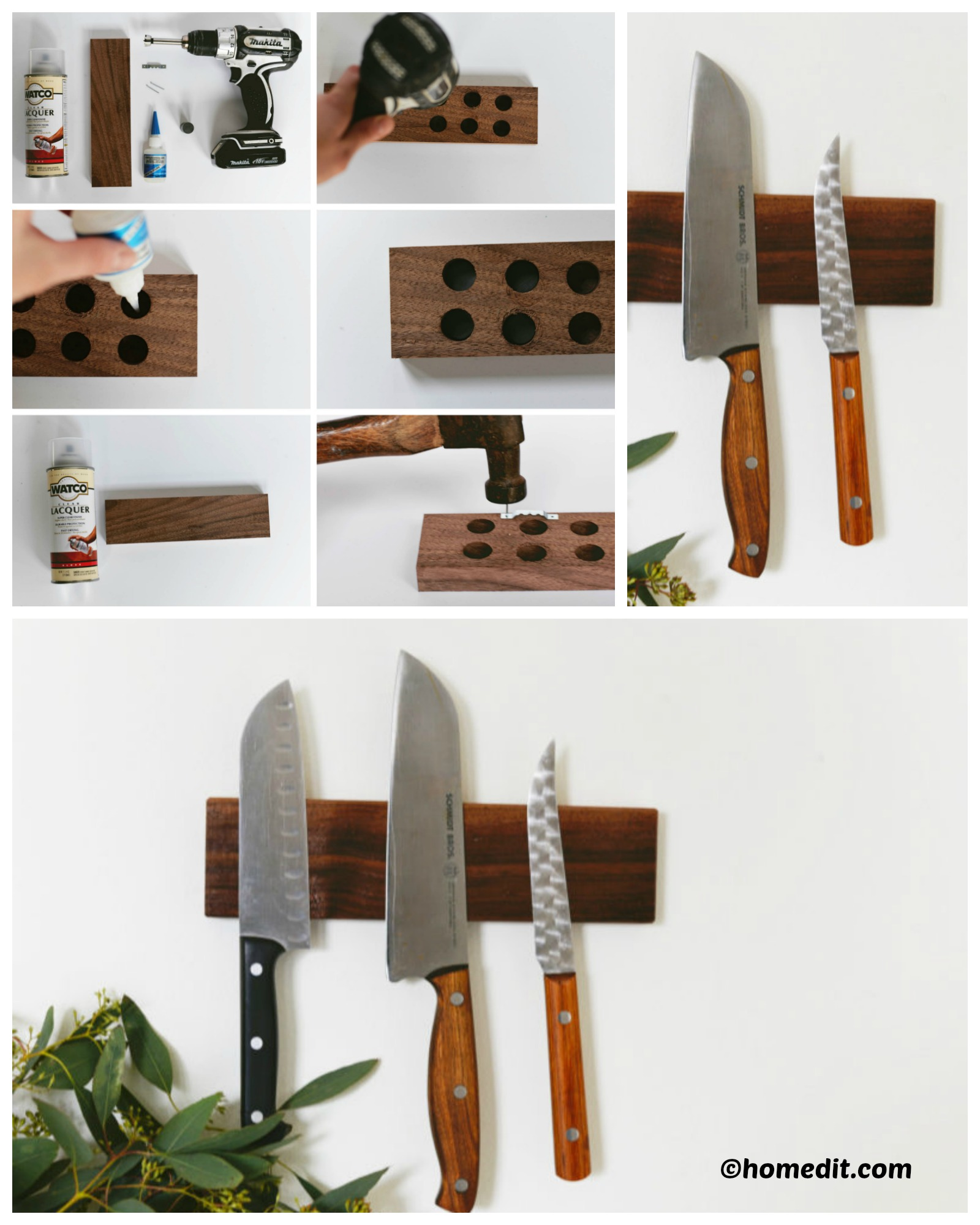 How to make a Magnetic Knife Holder