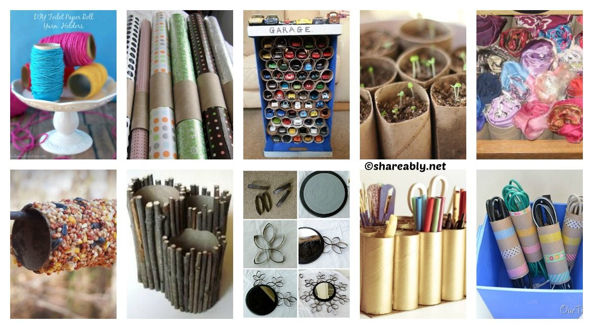 10 ways to resuse paper rolls