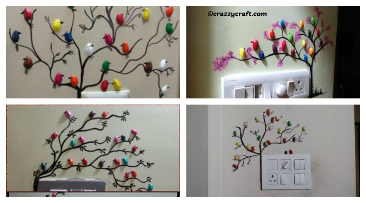 DIY Birds Tree Wall Decoration Tutorial